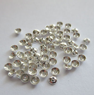 3 mm Solid Sterling Silver 925 Round Cap 10 - 300 pc