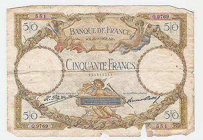 France 50 Francs 1932 - F condition