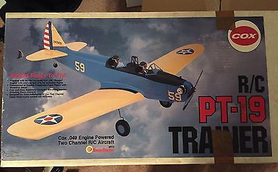 Cox RC PT-19 Trainer Model 90411 Ready To Be Built