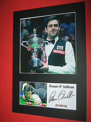 Ronnie O'sullivan Snooker A4 Photo Mount Signed Reprint Autograph Jimmy White