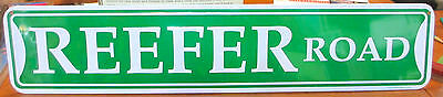 Pimp Plaza & Reefer Road Tin Street Signs - By Kalan New Lot Of 2