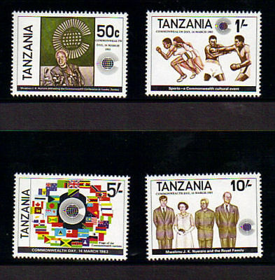 Tanzania 1983 Commonwealth Day Set Of All 4 Commemorative Stamps Mnh