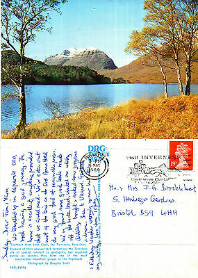 1980's LIATHHACH FROM LOCH CLAIR ROSS SHIRE SCOTLAND COLOUR POSTCARD