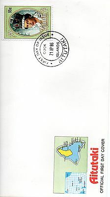 AITUTAKI 1986 HM THE QUEEN 60th BIRTHDAY FIRST DAY COVER CDS