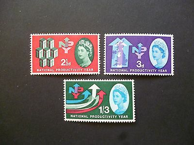 """Great Britain 1962 NYP (Ord) MNH set with """"Lake in Yorkshire"""" flaw on 3d."""