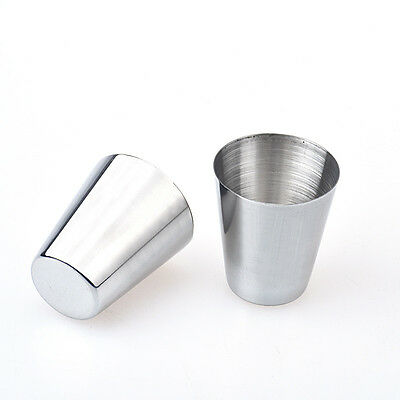 New 6pcs Stainless Steel Cup Drinking Coffee Tea Tumbler Camping Mug Xmas Gifts