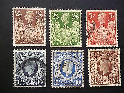 Great Britain 1939 KGVI High Values Used