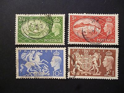 Great Britain 1951 KGVI High Values Used