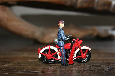Wwii Gpo Telegraph Dispatch Rider And Motorcycle Toy Soldier Figure - Unusual