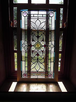 Antique Victorian Stained Glass Panel     # For Repair #