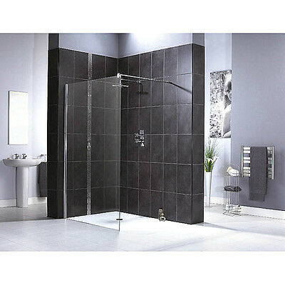 700mm Walk In Shower Enclosure Wet Room Cubicle 6mm Aqualux Glass Screen Panel