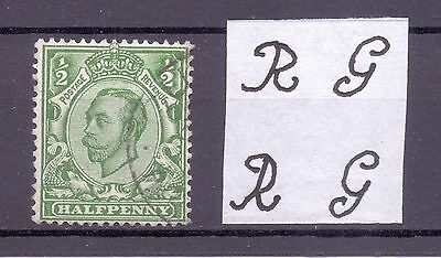 SG344 1/2d WITH INTERESTING SHIFT OF WATERMARK FINE USED.