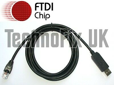 FTDI USB to serial/RS232 console rollover cable for Cisco routers - RJ45