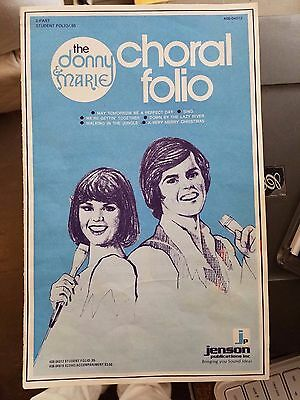 1976 Donny and Marie Osmond Song Book Choral Folio