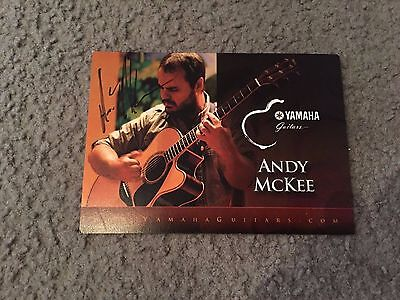 Andy Mckee - signed postcard Yamaha Tour promo-only ORIGINAL 5x7