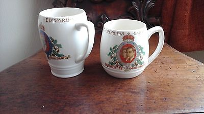 Two coronation mugs king george vi/king edward viii may 1937