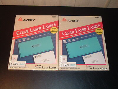 Avery Clear Laser Labels 5660 - 3,000 labels