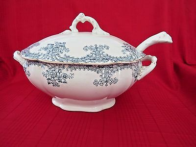Reduced-Antique John Maddock & Sons Soup Tureen with Lid and Ladle-Louis XIV