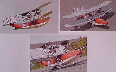 """RC Model Aircraft Building Plan """"SUPERMARINE SOUTHHAMPTON"""" Electric Flying Boat"""
