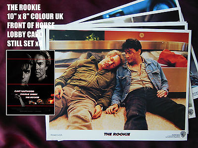 "RARE VINTAGE 10""x8"" UK FOH LOBBY CARD STILL SET x8 - THE ROOKIE  -CLINT EASTWOOD"