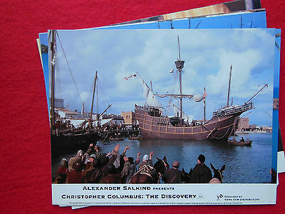 RARE 10x8 UK FOH LOBBY CARD STILL SET(x8) - CHRISTOPHER COLUMBUS : THE DISCOVERY