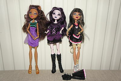 Monster High Dolls X 3 In Ex Condition