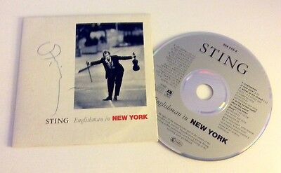 Sting AUTOGRAPHED / SIGNED Englishman in New York 3-Track CD