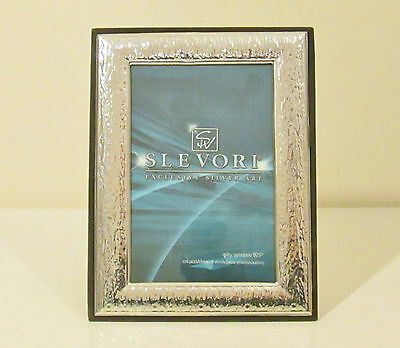 925 Hallmarked Silver Photo Picture Frame - Beautiful Hammer Effect Decoration