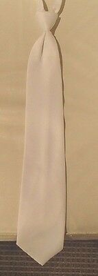 Men's White Solid Satin Formal Tuxedo Bow Tie and Long Tie