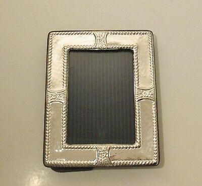 925 Hallmarked Silver Photo Picture Frame - Beautiful Flower Decoration