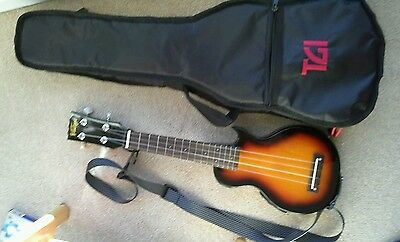 Electric Ukulele with strap and case