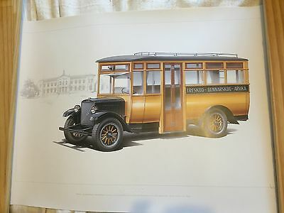 Volvo Bus limited edition colour print VOLVO LV4