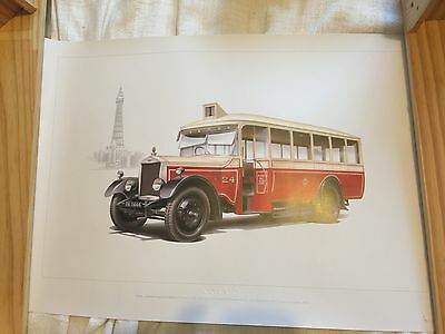 Volvo Bus limited edition colour print LEYLAND LIONESS Blackpool