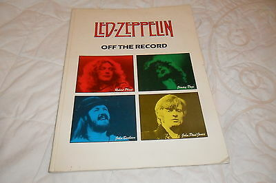 """RARE Led-Zeppelin """"Off The Record"""" Sheet Music Book Guitar/Voice 1988"""