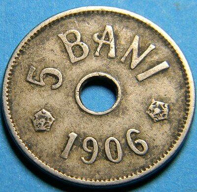 Romania 1906 5 Bani coin