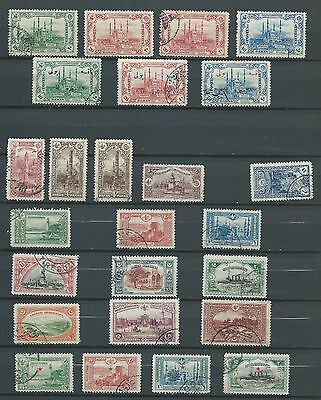 Turkey Ottoman Empire 1913-14 (25 stamps)