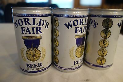 1982 KNOXVILLE WORLD'S FAIR BEER CANS Complete 6 Pack GREAT CONDITION