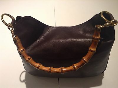 Gucci Brown Leather Bamboo Handled Ladies Hand Bag