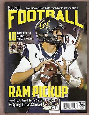 Football Beckett  # 306 July 2016 Jared Goff cover (1st cover?)