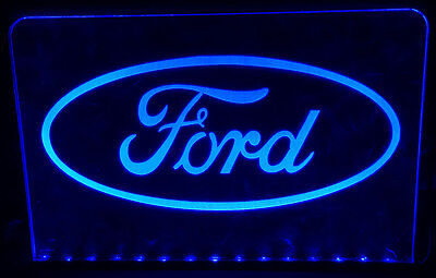 Ford Illuminated Colour Changing Light Up Sign Plaque With Remote Control