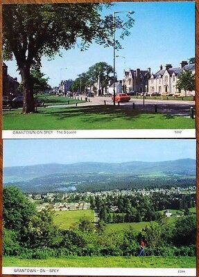Postcard X2 Grantown-On-Spey, Moray   Scotland Grantown