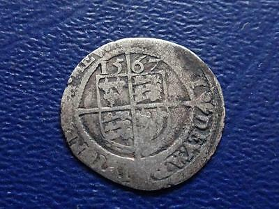 Great Britain  Elizabeth 1St Hammered Silver Threepence 1567