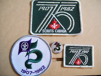 Scouts Canada 75 Year Badges and Pin