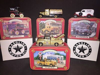 Texaco Collectors Club Die Cast Truck Models w/Collector Tin 1:43 Scale Lot Of 4