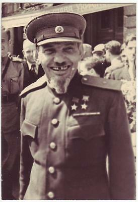 Russia Ussr Archive Photo: Wwii Partisan Leader, General, Twice Hero Of Ussr