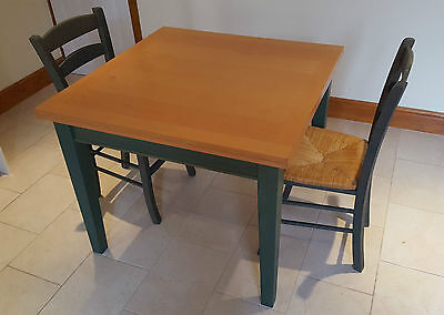 Vintage Shabby Chic Extending Beech Kitchen Table & Chairs