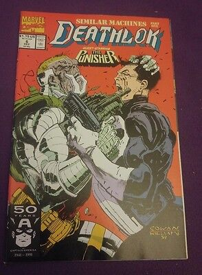 Marvel Comic - Deathlok Issue 6 featuring The Punisher