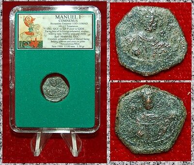 Ancient Byzantine Empire Coin MANUEL I  St.George On Obverse Half Tetarteron