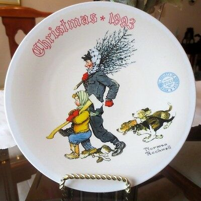 *THE TREE BRIGADE* - 20th KNOWLES CHRISTMAS 1993 PLATE - NICE CHRISTMAS GIFT