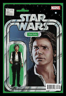 STAR WARS #2 Han Solo Action Figure Cover Aaron Cassaday Marvel 1st print NM